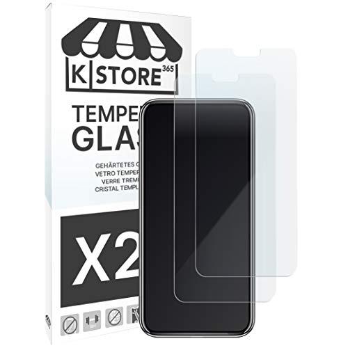 [2 Piezas] Cristal Templado Para Xiaomi Redmi Note 6 Pro Protector De Pantalla Vidrio Templado Con [Adhesivo En Todo El Cristal] [9H Dureza] [2.5D Borde Redondeado] Para Xiaomi Redmi Note 6 Pro