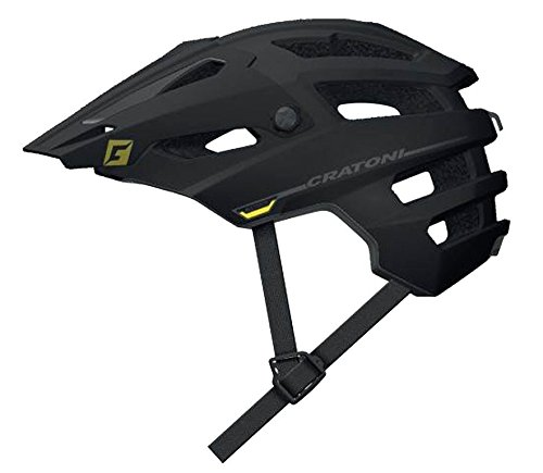 Fahrradhelm Cratoni AllTrack (MTB) Gr. S/M (54-58cm) gummiert, schwarz/anthrazit (1 Stück)