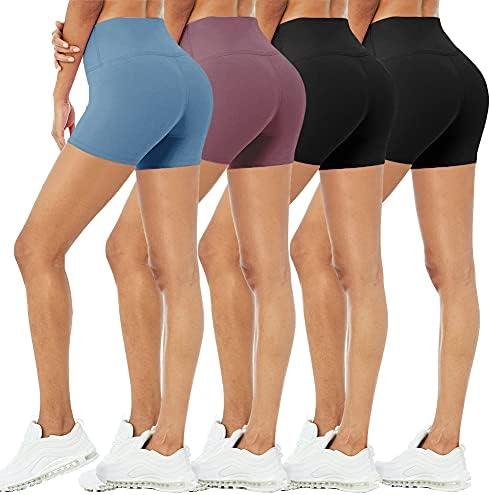 4 Pack Biker Shorts for Women – 5″/8″...