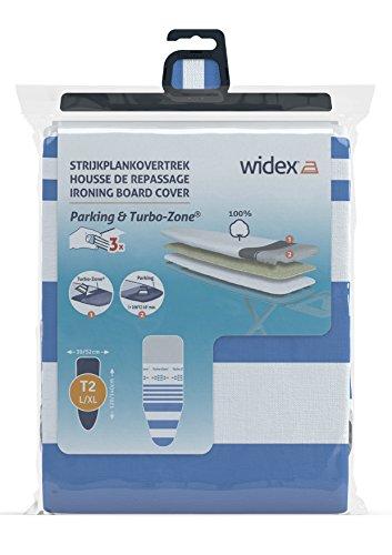 Widex 731.1 strijkplankovertrek met glijstroken op schuim + molton, voorste spanning, katoen, meerkleurig, 134 x 49 x 1 cm