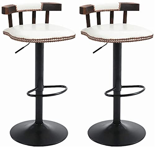 WENLI Adjustable Barstools Bar Chairs Set Of 2 Counter Adjustable Height Barstool,Living Room, Office Chair Lift Patio Bar,Home Kitchen Stool Bar With Backrest pub seat Counter Bar Chairs