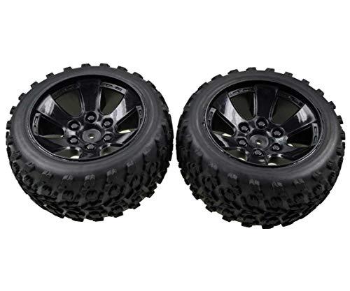 Carson 500900107 - FY10 Truggy Reifen-/Felgenset, Modellbauzubehör, 2 Stück