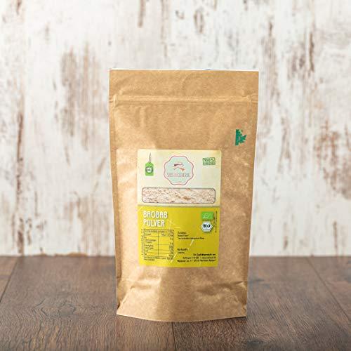 süssundclever.de® Bio Baobab Pulver | 1 kg | Premium Qualität | plastikfrei und ökologisch-nachhaltig abgepackt
