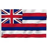Anley Fly Breeze 3x5 Fuß Hawaii State Flagge - Lebendige Farbe und UV-beständig - Canvas Header und doppelt genäht - Hawaiianische HI Flaggen Polyester mit Messingösen 3 X 5 Ft