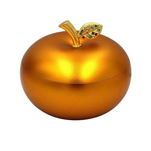 PIANYIHUO ceniceroCenicero dealuminioCenicero de manzana creativo Cenicero de vehículo Cenicero de decoración Cenicero de caja decorativa Ceniceros con tapas, Color 2