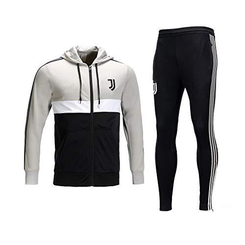 WXHMKGG Herren Schwarz Fußballbekleidung Verein Uniform Langarm Jacke Trainingsanzug Wettkampfanzug M