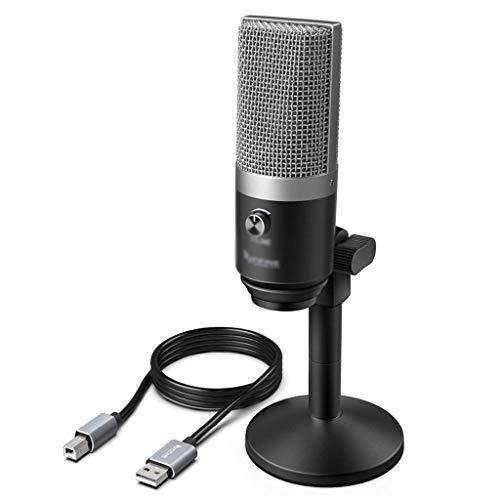 FKSDHDG Micrófono de grabación Traje de Enchufe USB para computadora portátil Alta sensibilidad para grabación de Video de Juegos de Instrumentos (Color : Gray)