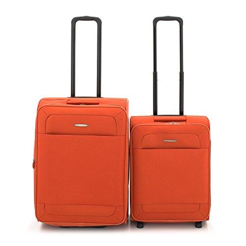 Roncato Trolley Juego de maletas, 70 liters, Naranja (Arancio)