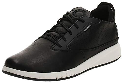 Geox AERANTIS U927FA Hombre Zapatillas,mínimo,varón Zapatos Deportivos,Zapato con Cordones,Transpirable,Calzado,Zapatillas,Sneaker,Negro,45 EU