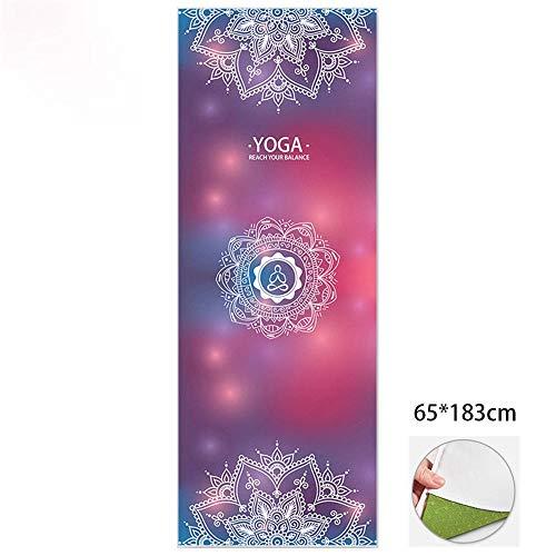 LVYI Ultra-Delgada Yoga Mat Antideslizantes Femeninas Principiantes Sudar-absorbentes Plegables portátiles de Yoga Mat Manta Toalla Toalla Yoga Shop