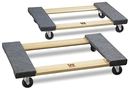 WEN 721830 1000 lbs. Capacity 18 in. x 30 in. Hardwood Movers...