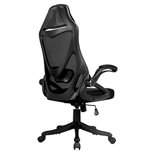 Bürostühle Ergonomischer Schwarzer Mesh Sitzender bequemer Computerstuhl Verstellbarer Chefsessel (Color : Black, Size : 62 * 62 * 134cm)