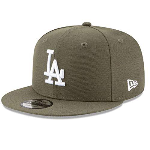 New Era MLB L.A. Los Angeles Dodgers 9FIFTY Snapback Hat, Adjustable Olive Cap