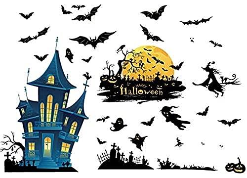 BBZZ Halloween venster stickers, klampt Halloween Display Decoraties Ornamenten Feestartikelen Venster Stickers (Kleur: Veelkleurig)