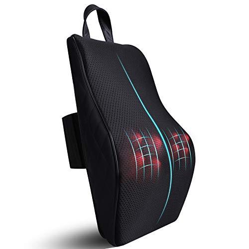ICETEK Shiatsu - Cojín de masaje con función de calor, masajeador de cuello eléctrico, masajeador giratorio 3D para cuello, hombros, espalda, regalos, mujeres, hombres, oficina, coche, casa