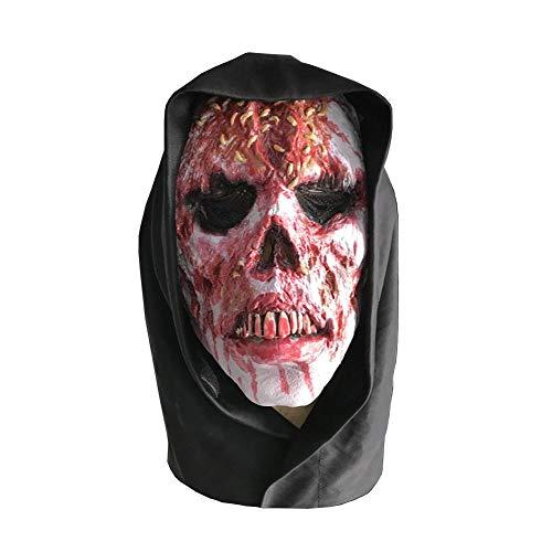 WYING Accesorios de Halloween Zombie Hood Horror Wizard má