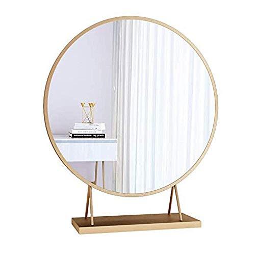 Nordic Desktop Desktop Makeup Spiegel Aufkleber Wandbehang Kommode Metall Rundspiegel HD