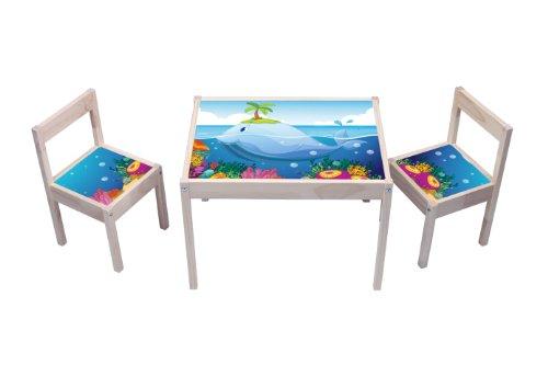 """""""Unterwasserwelt"""" Aufkleber - KA09 - (Möbel nicht inklusive) - Möbelsticker passend für die Kindersitzgruppe LÄTT von IKEA"""