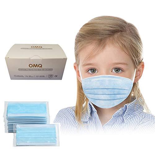 50 Stück Face Shield Gesichtsschutz Für Kinder Jungen Mädchen, Individuelles Paket Mundschutz, Half Face Visier Gesichtsschutz, Gesichtsschutzschirm, Schutzvisier, Safety Gesichtsschutzschild (Blau)