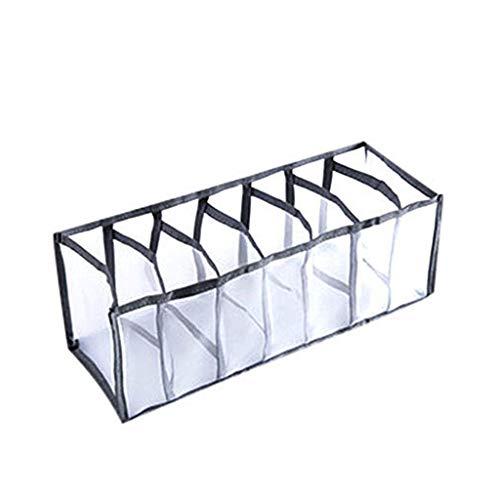 VESNIBA Cajas de almacenamiento para ropa interior y otros accesorios pequeños, divisores plegables de 7 celdas, para guardar calcetines, bufandas, sujetadores de pecho.