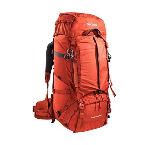 Tatonka Yukon 50+10 Sac à dos de trekking avec accès à l'avant et système dorsal réglable pour homme et femme 60 l, Homme, 1343, Redbrown, 68 x 30 x 22 cm