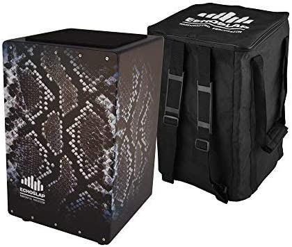 Echoslap GFX Snake Pattern Cajon Challenge Manufacturer direct delivery the lowest price of Japan 21 Crafted Black Coiled Hand