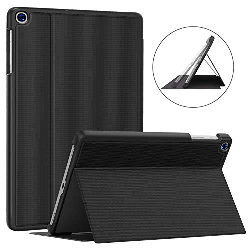 Soke Case for Galaxy Tab A 10.1 2019 (SM-T510/T515), Ultra Slim TPU Backshell, Folio Stand Cover with Multi-Viewing Angles For Samsung Galaxy Tab A 10.1 Inch 2019 Tablet, Black