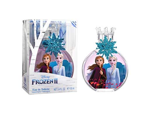 Frozen, Elsa, Anna, Disney, Princess, Fragrance, for Kids, Eau de Toilette, EDT, 3.4oz, 100ml, Perfume, Spray, with Charm, Made in Spain, by Air Val International