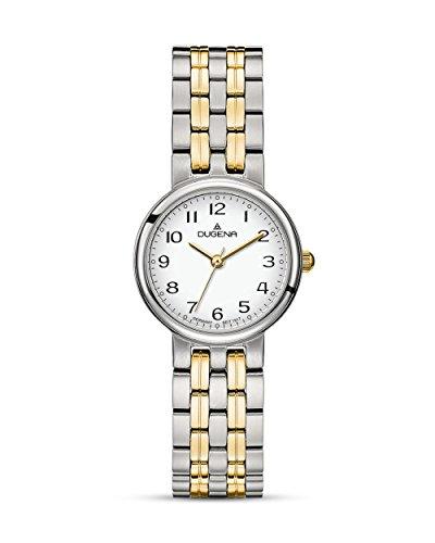 Dugena Damen Armbanduhr Brenda Edelstahl 26mm silber/gold