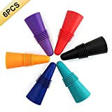 Best Wine Bottle Stoppers - 6PCS Wine Stoppers, AK1980 Silicone Reusable Sparkling Wine Review
