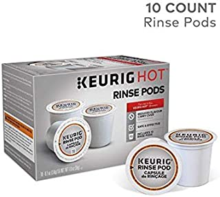 Keurig 5000057588 Rinse Brews in both Classic 1.0 and Plus 2.0 Series K-Cup Pod Coffee Makers, 10-Count