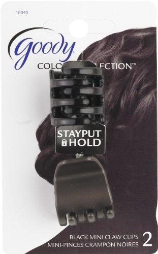Goody Mini pince-crampon anti-glisse Colour Collection - Noire - 2/paquet (3 paquets)