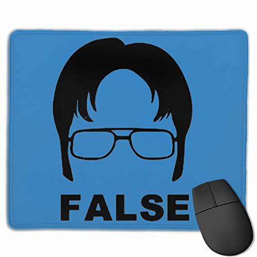 The Office Dwight Fact False Das rutschfeste Mauspad auf Gummibasis hat eine bessere Erfahrung.