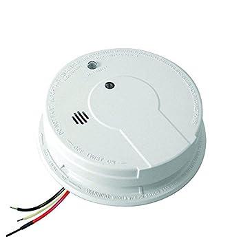 Kidde Smoke Detector Hardwired with Battery Backup & Interconnect Smoke Alarm with LED Lights