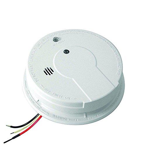 Kidde Smoke Detector, Hardwired with Battery Backup & Interconnect, Smoke Alarm with LED Lights