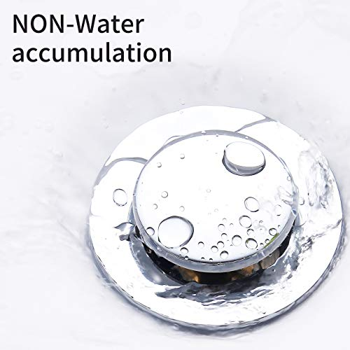KES Bathroom Sink Drain with Overflow Vessel Sink Lavatory Vanity Pop Up Drain Stopper Polished Chrome Finish, S2007A-CH