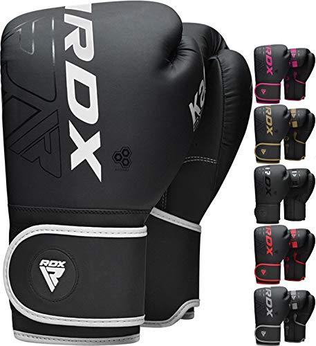 RDX Boxhandschuhe für Muay Thai und Training, Maya Hide Leder Kara Punchinghandschuhe für Kampfsport, Kick Boxen, Sparring, Boxsack, MMA, Sandsack Boxing Gloves (MEHRWEG)