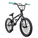 Mongoose Legion L10 Freestyle BMX Bike Line for Beginner-Level to Advanced Riders, Steel Frame, 20-Inch Wheels, Black