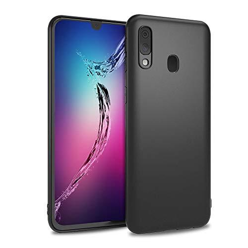 Agedate pour Samsung Galaxy A20e Coque 5,84 Pouces, Coque Pare-Chocs Ultra Mince à Absorption des Chocs, Anti-Empreintes Eigitales, Housse de Téléphone en TPU Souple pour Samsung Galaxy A20e (Noir)