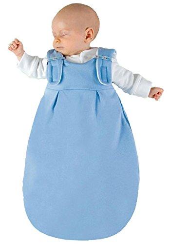 Picosleep Babyschlafsack uni hellblau I für Jungen I ganzjährig I ohne Ärmel I Baumwolle (62/68)