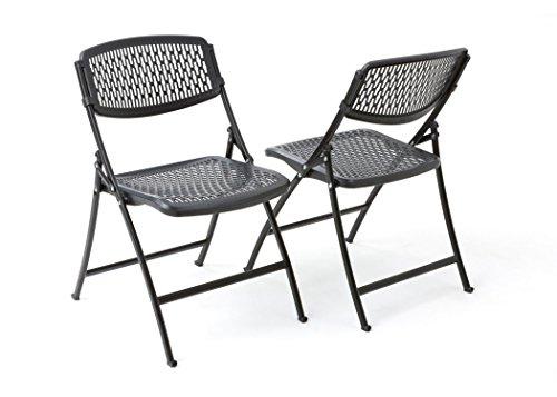 Mity-Lite Flex One Folding Chair, Black, 4-Pack