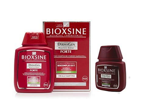 2x BIOXSINE Travel Set Size Forte Shampoo für alle Haartypen - bei starkem Haarausfall- für Frau und Mann | mit pflanzlichem Haarwaschmittel das Haarwuchs beschleunigen 400 ml