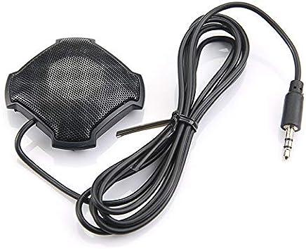 FinukGo Microfono omnidirezionale Pickup con Microfono da 3,5 mm con Jack Audio a condensatore per Skype VOIP Call Voice Chat - Nero - Trova i prezzi più bassi