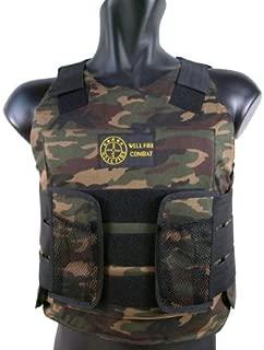 BBTac Airsoft Protection Vest Padded Cushion (Woodland Camo)