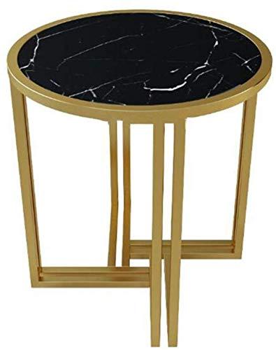 XXT kreativer Tisch, multifunktional, goldfarben, für Wohnzimmer, Schlafzimmer, Marmor, Teetisch, Balkon, Freizeittisch, Eisenkunsttisch, Negotiat-Tisch, langlebig (Farbe: A)