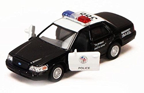 Brand New Ford Crown Victoria Police Interceptor 1:42 Diecast Model Car Black Toy B307 by Kinsmart