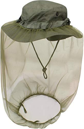 normani Australian Outdoor Boonie Hat mit Moskitokopfnetz Farbe Oliv Größe L