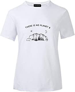 Women's There is No Planet B Earth Day T-Shirt Environmental Protection Love Earth Tops