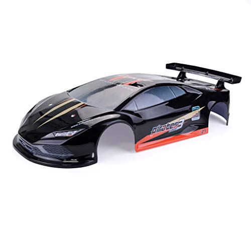 Basage 1/10 RC Drift Coche On-Road Coche Shell Carcasa para LRP Yokomo Touring Coche HPI Kyosho HSP Redcat FS Acme ZD Racing Cars, Negro