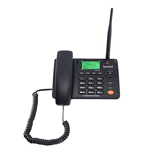 Beetel Fixed Wireless Phone with Volte Support and WiFi Hotspot, Black